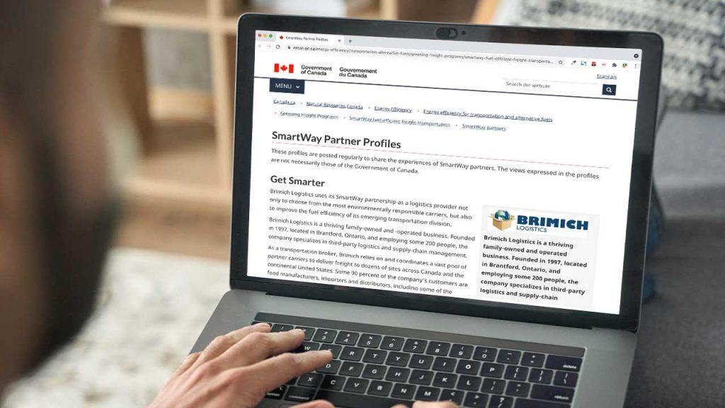 Canada Recognizes Brimich As A SmartWay Partner